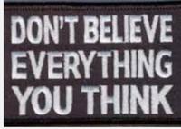 Toutes nos pensées ne sont pas fiables