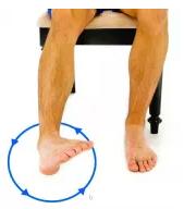 Rotation d'une cheville sur le bord d'une chaise
