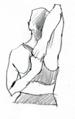 position debout gomukhasana bras